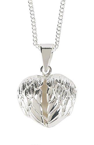 [Between These Angel Wings Heart Locket Necklace] (Angel Locket)