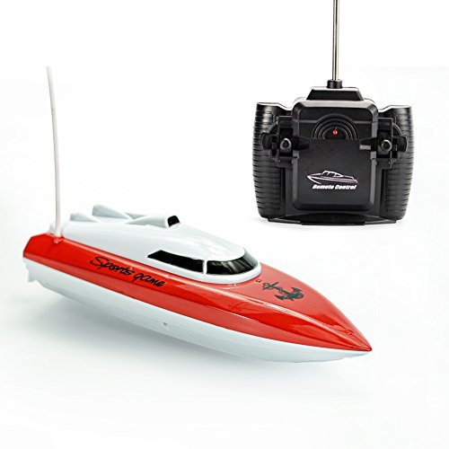 RC Boat Remote Control High Speed Electric Race Boat for Kids Toy -Red