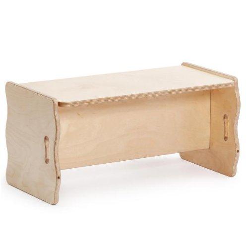 Erzi Multifunktionsbank, Holzbank, verstellbare Kinderbank, aus Holz, Maße 69 x 34 x 34 cm, natur