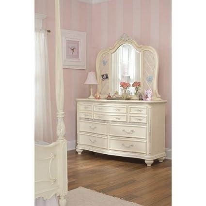 Amazon.com : LEA Furniture Jessica McClintock Seven Drawer Dresser    Antique White : Everything Else