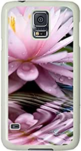 Beautiful Flower Galaxy S5 Case, Galaxy S5 Cases - Compatible With Samsung Galaxy S5 SV i9600 - Samsung Galaxy S5 Case Durable Protective Case for White Cover Custom SB.AO Case