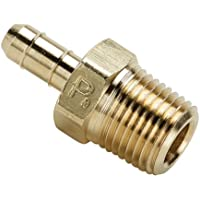1//4 Barb Tube x 1//8 Male Thread Parker Hannifin 231-4-2 Dubl-Barb Brass Body Male Run Tee Fitting