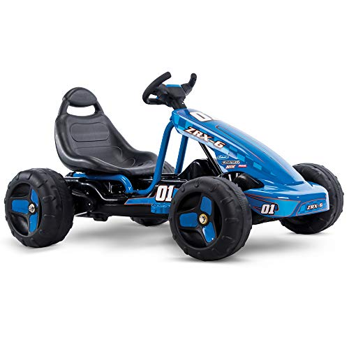 Huffy Flat Kart Battery Powered Ride On Kid Car, Blue