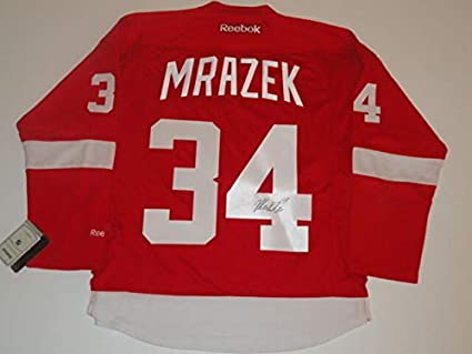 new product 15f39 81174 Petr Mrazek Autographed Signed Detroit Red Wings #34 Home ...