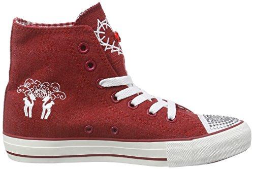 Krüger Madl Glitter Toe-Cap - zapatillas deportivas altas de lona mujer rojo - Rot (rot / 9)