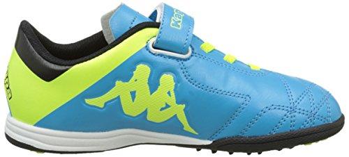 Kappa 4 Soccer Player Tg Ev - Zapatillas de fútbol americano Unisex niños Bleu (Lt Blue/Yellow)