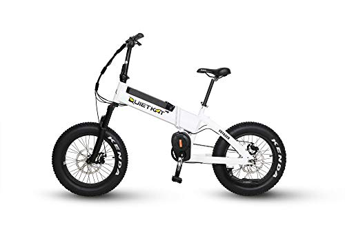 """QuietKat Voyager Electric Bike for Backcountry, 20""""/Small, White"""