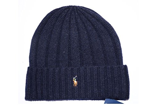 n's Beanie Winter Hat Wool Navy ()