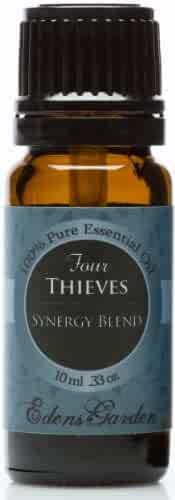 Four Thieves Synergy Blend Essential Oil by Edens Garden (Comparable to Young Living's Thieves & DoTerra's ON GUARD blend)- 10 ml