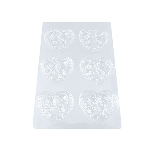 100 PCS Chocolate Molds Baby Shower Candy Making Supplies Jelly Maker Wholesale WX057 Love Heart Angel by WOWGAME2009