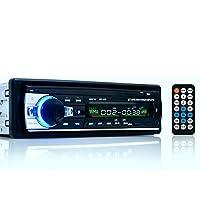 AUA Voiture Bluetooth Audio Stéréo 1 DIN En Dash 12V FM Récepteur avec USB MP3 Radio Lecteur et USB SD Entrée Récepteur + Télécommande