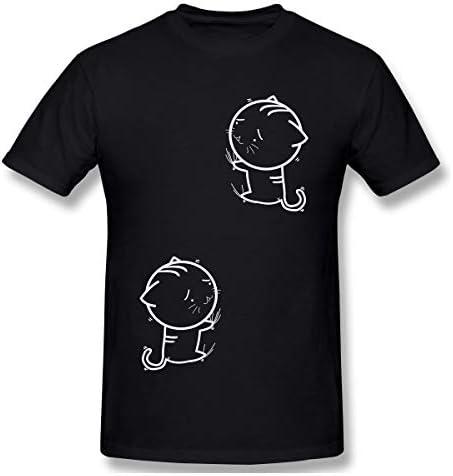 GODZILLASENN メンズtシャツ ネコネコ 柄プリントTシャツ