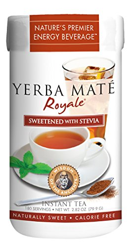 Ancients Stevia (Wisdom of the Ancients Yerba Mate Royale Tea, Instant, 2.82 Ounce)