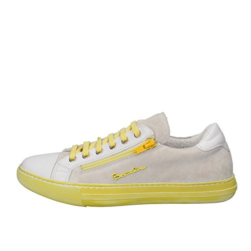BRACCIALINI sneakers Yellow White Suede Leather AH368 (6 US / 36 EU)
