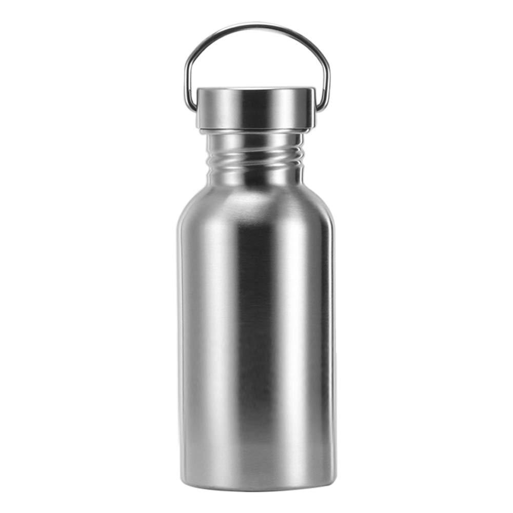 TiooDre Botella Agua Acero Inoxidable, Ideal para Ciclismo Camping Deportes al Aire Libre Senderismo Correr, 350ml Altura 15.6cm/6.1