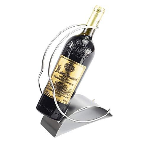 Y-Nut Stainless Steel Wine Bottle Holder, Decorative Single Bottle Stand Serving Display Wine Rack, Stylish Wine Bottle Organizer Great for Wine Lovers, - Bottle 3 Stand Wine