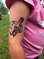 10 hojas Niños Tatuajes sirena y hada para fiestas cumpleaños ...
