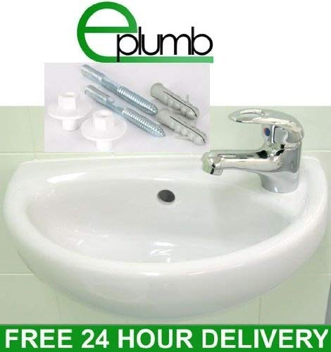 Compact Small Cloakroom Basin Sink + Tap & Trap Set