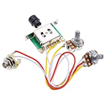 ROCKET Silver Wired Loaded Control Plate Harness 3 Way Switch For TL Tele Telecaster Electric Guitar+4 picks (Without plate)