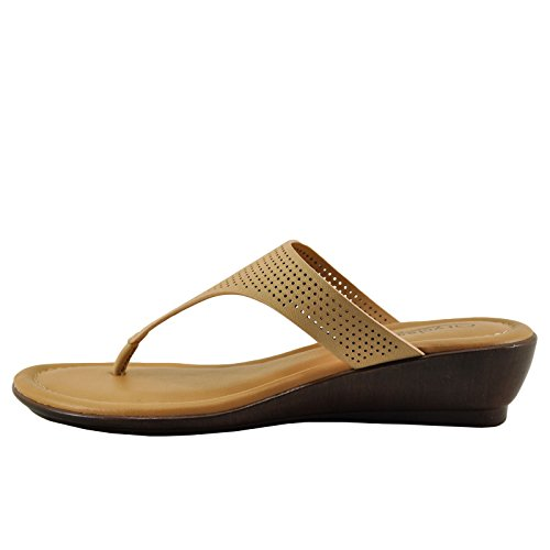City Classified Melton H Womens T-Strap Slip On Sandal Natural bK4q0E7