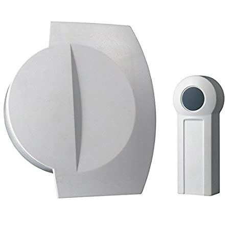 Elro Wireless Chime.Elro White Portable 75m Wirefree Wireless Door Bell Push