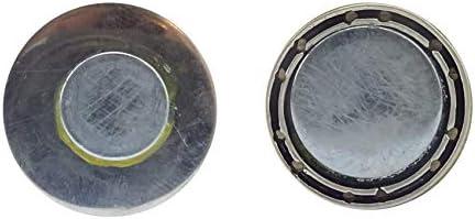 Broche aimant/ée clip pendentif en acier inoxydable 20 mm fait main pissenlit bleu