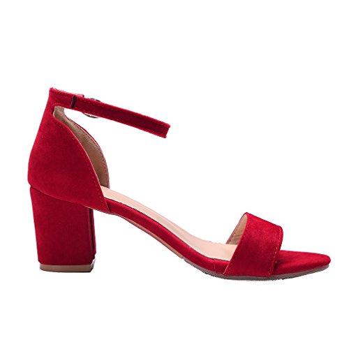 Mujer Rojo YE Tira tobillo de 1qqngzB