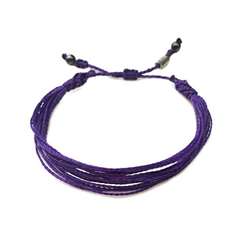 RUMI SUMAQ Purple Awareness Bracelet for Testicular Cancer, Pancreatic Cancer, Alzheimers, Cystic Fibrosis, Lupus, Fibromyalgia, Anti-Bullying