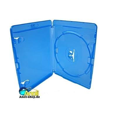 Amaray - Carátulas para Blu-Ray (50 unidades, 1 disco por carátula, 14 mm), color azul
