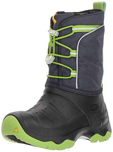 KEEN Unisex LUMI Boot WP Hiking, Blue Nights/Greenery, 12 M US Little Kid