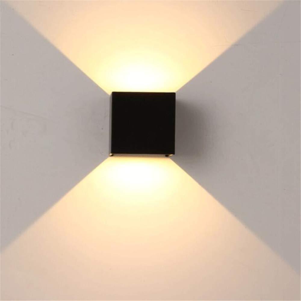 Zhang Yan ZYY ® Applique a LED per Esterni Impermeabile IP65 Portico Lampada da Parete per Giardino Indoor Home Decoration Applique a Parete in Alluminio Nero AC90-260V, Bianco