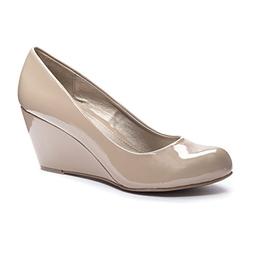 CL by Laundry Women's Nima Patent Wedge Pump - Nude - 6 B...