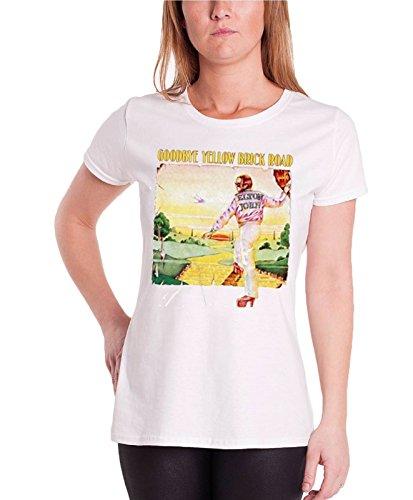 Elton John T Shirt Goodbye Yellow Brick Road Official Womens White Junior Fit