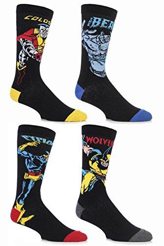 SockShop-Mens-4-Pair-Marvel-X-Men-Wolverine-Beast-Cyclops-and-Colossus-Cotton-Socks