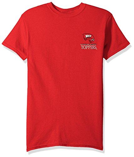 New World Graphics NCAA Western Kentucky Hilltoppers Team Mosaic Short Sleeve Shirt, Large, Red