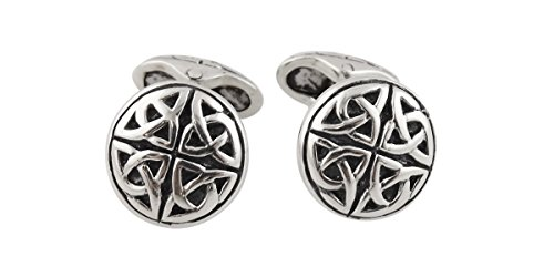 Celtic Trinity Knot Men's Cuff Links - Sterling Silver, 1 Pair Cufflinks (Cufflinks Celtic Knot Silver)