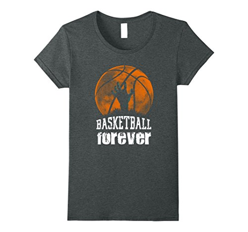 Womens Basketball is Forever! Funny Zombie Basketball Halloween Tee XL Dark (Basketball Themed Halloween Costume)