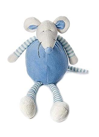Ratón de peluche azul de 34 cm para niños recién nacidos