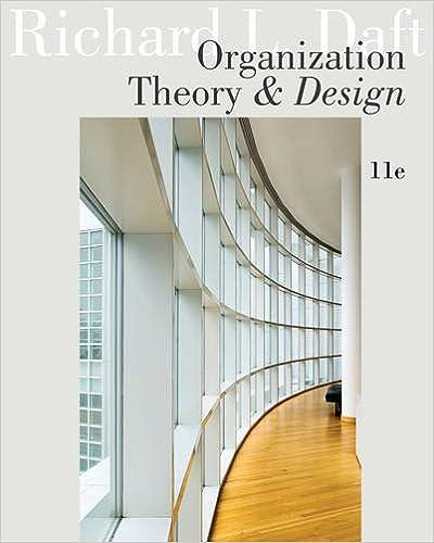 Amazon Organization Theory And Design 9781111221294 Richard L Daft Books