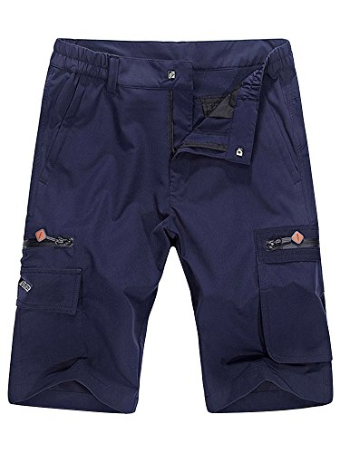 Men's Lightweight Hiking Quick Dry Cargo Short Blue