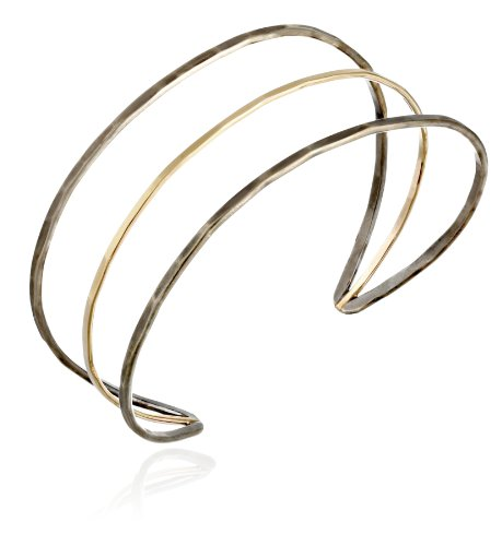 Melissa Joy Manning Mixed Metal 14k Gold and Sterling Silver Cuff Bracelet, 7""
