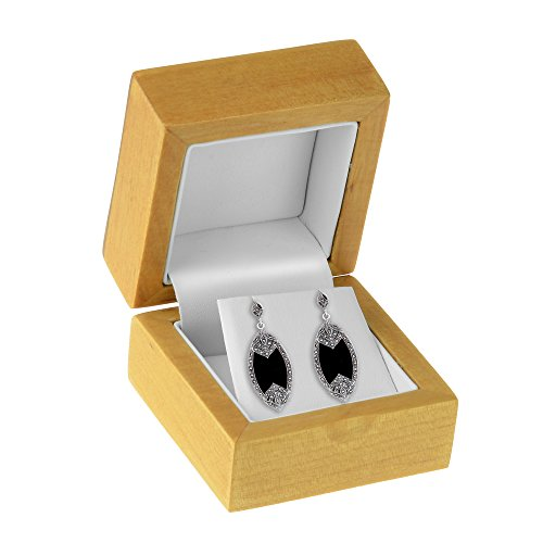Geff House Maple Wood Earring Jewelry Gift Box