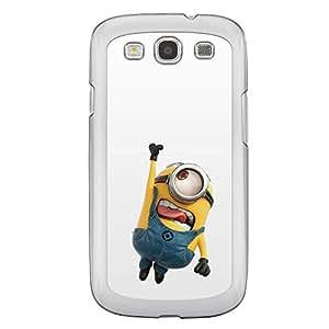 Loud Universe Samsung Galaxy S3 Files Minion 45 Printed Transparent Edge Case - Multi Color