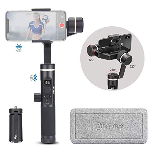 FeiyuTech Feiyu SPG 2 Splash-Proof 3 Axis Handheld Stabilizers Phone Gimbal for iPhone Huawei Samsung Galaxy Moto LG Xiaomi,Gopro, Supports Face/Object Tracking, Time-Lapse &Slow Motion