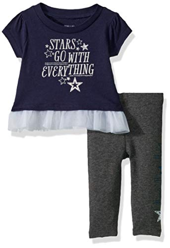 Baby Girl Dallas Cowboys (NFL Dallas Cowboys Infant Peppie Set, Navy/Charcoal,)