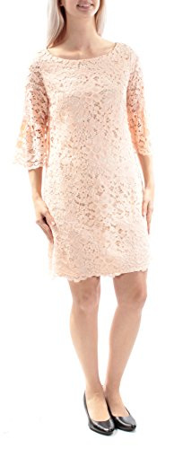 - Vince Camuto Women's Lace Shift Dress with Bell Sleeves Blush Dress