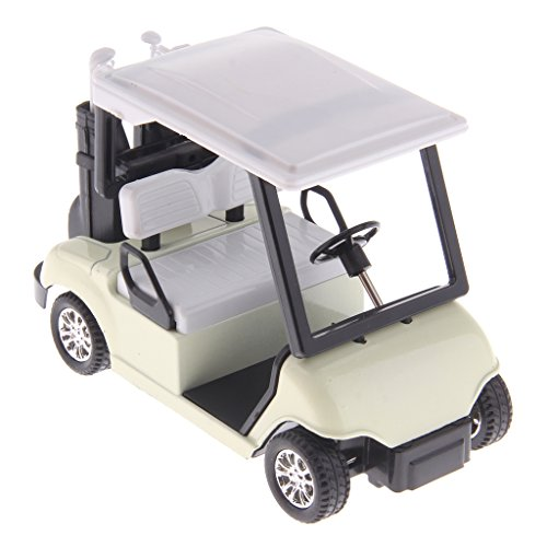 ale Mini Alloy Pull Back Golf Cart w/ Clubs Diecast Model Vehicle Playset Toy Office Desk Decor Kits (Golf Cart Desk)