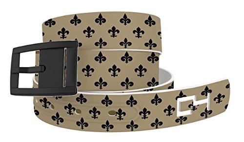 C4 Belts Fleur De Lis Classic Belt with Black Buckle - Fashion Belt - Waist Belt for Women and (Fleur De Lis Skirt)