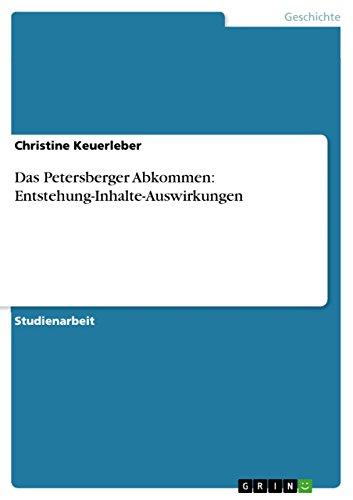 Amazon.com: Das Petersberger Abkommen: Entstehung-Inhalte ...