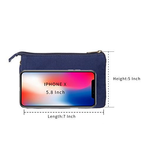 Blue2 Purse Crossbody Women Small Cell Colorful Girls For Bags Wallet Phone Canvas Purse Teen UORqpF